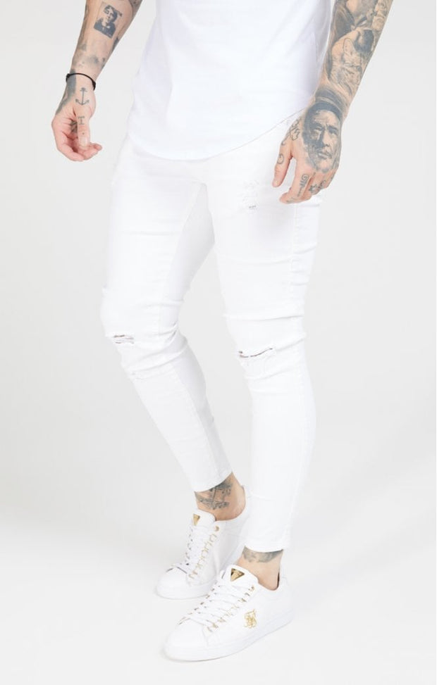 1-SS-19351-White-Denim-Skinny-distressed-Siksilk-Live-clothing