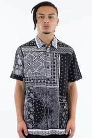 1-W20IN016BLW-Black-white-Shirt-Mosaic-Wndrr-Live-clothing
