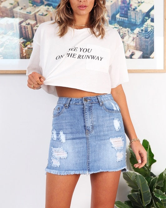 1-W69973-Blue-Skirt-Distressed-denim-Live-curated-Live-clothing
