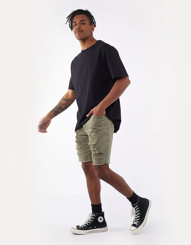 Ramble Ripped Short - Khaki