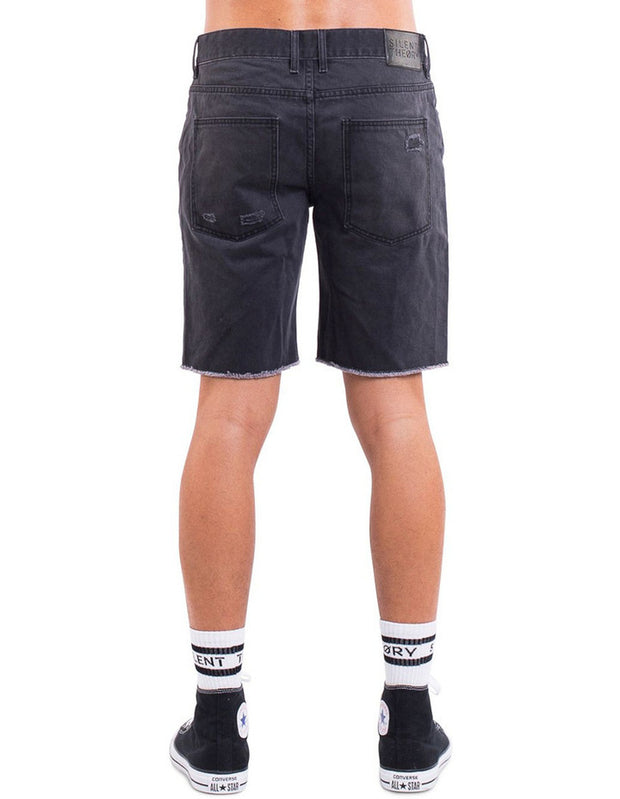 Ramble Ripped Short - Black