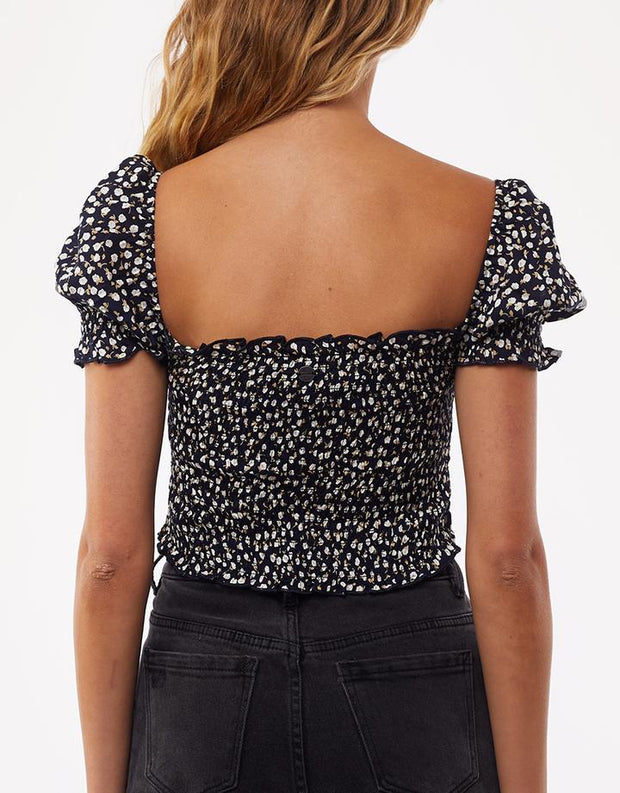 Autumn Ditsy Short Sleeve Top