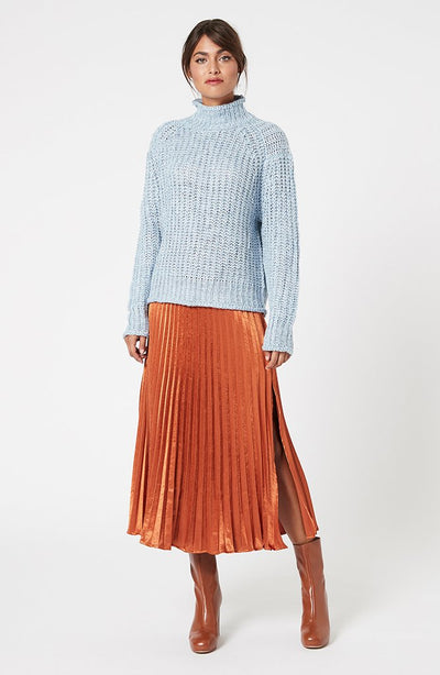 Sofia High Neck Knit Jumper