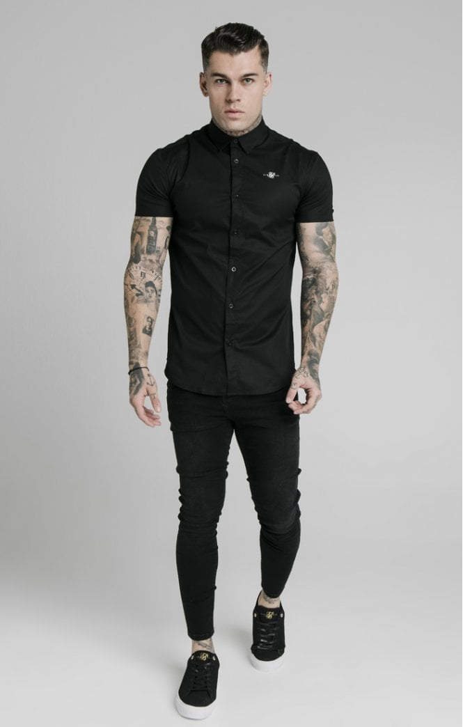 Ss Standard Collar Shirt Black