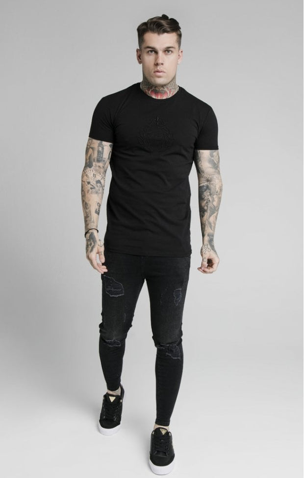 Prestige Embroidery Gym Tee - Black