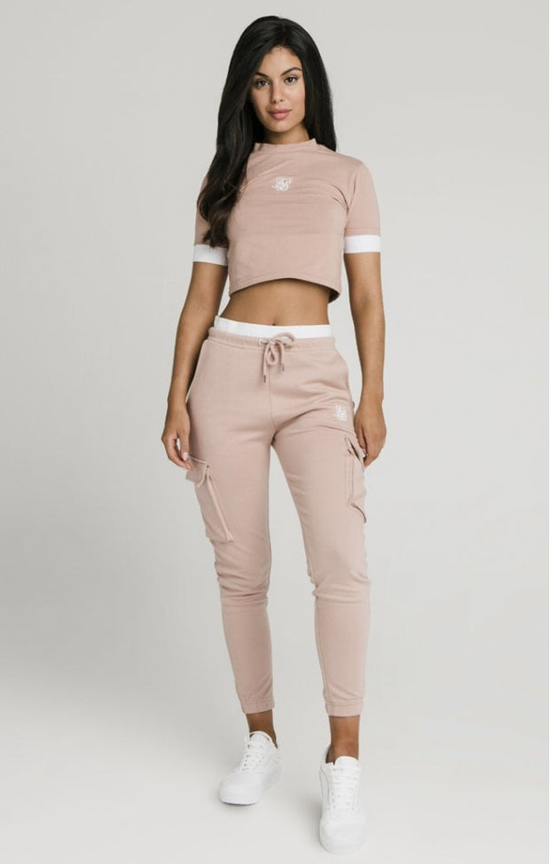 Tape Cuff Crop Tee Rose