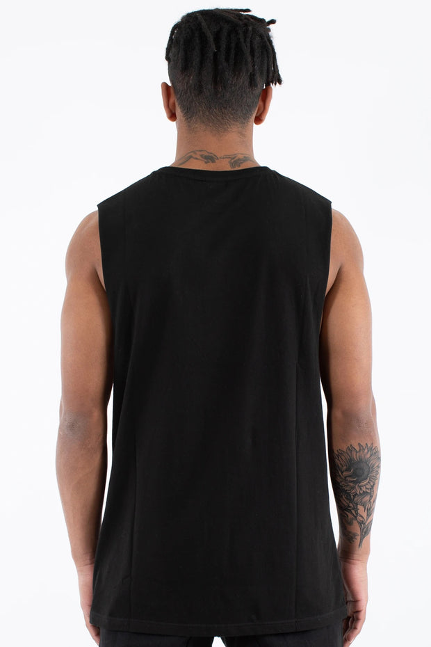 Slate Muscle Top - Black