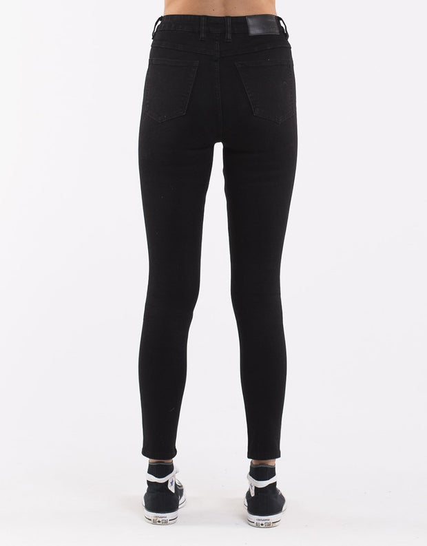 The Vice High Skinny Jean - Jet Black