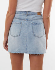 Shea Split Denim Skirt