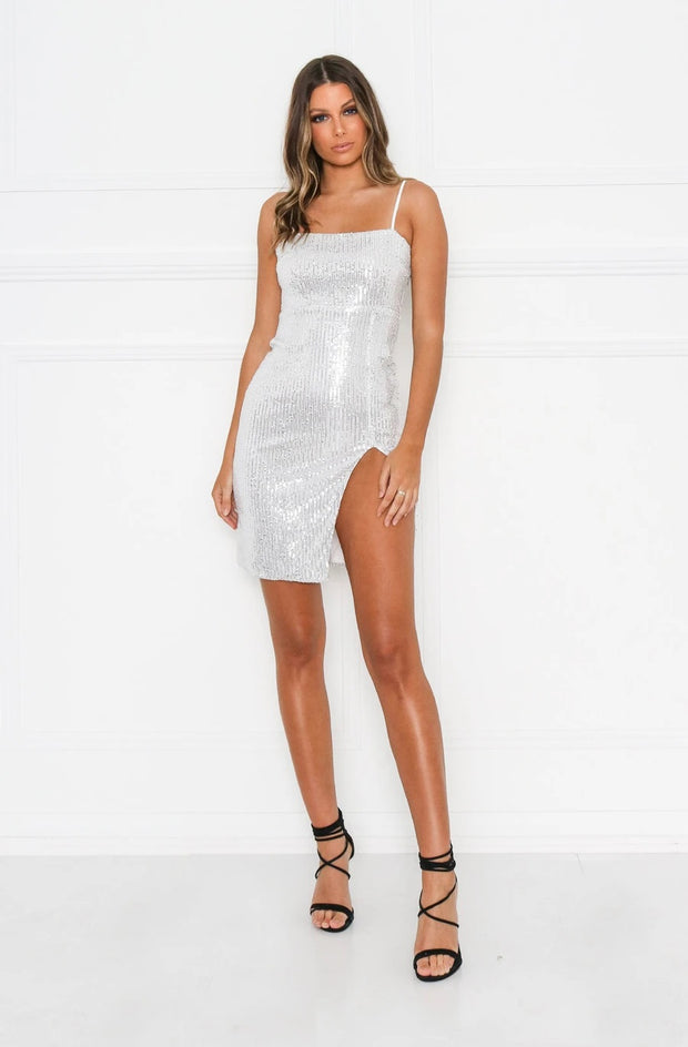 1-ICI03-Silver-Dress-Natalia-sequin-Ivory-and-chain-Live-clothing