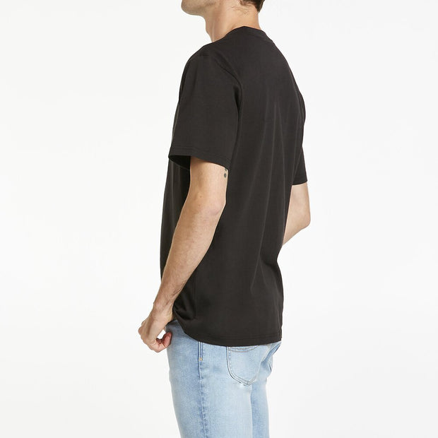Lee Burnout Tee - Washed Black Yellow
