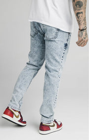 Straight Cut Recycled Denim - Light Blue