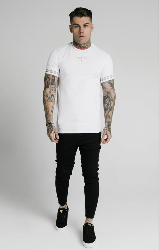 Element Straight Hem Gym Tee White & Gold