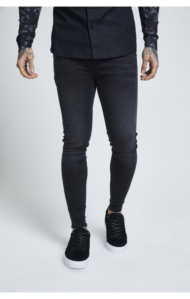 1-SS-19349-Washed-black-Denim-Skinny-Siksilk-Live-clothing