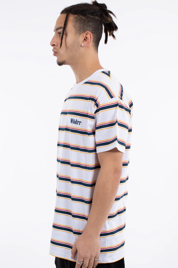 Max Stripe Custom Fit Tee - White