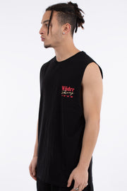 Pit Lane Muscle Top - Black