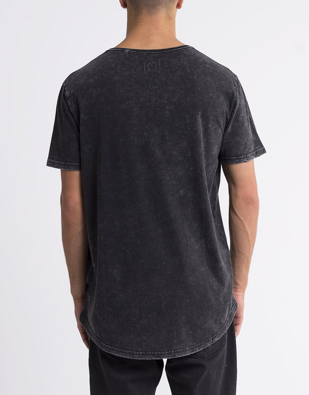 Acid Tail Tee Washed Black (r)
