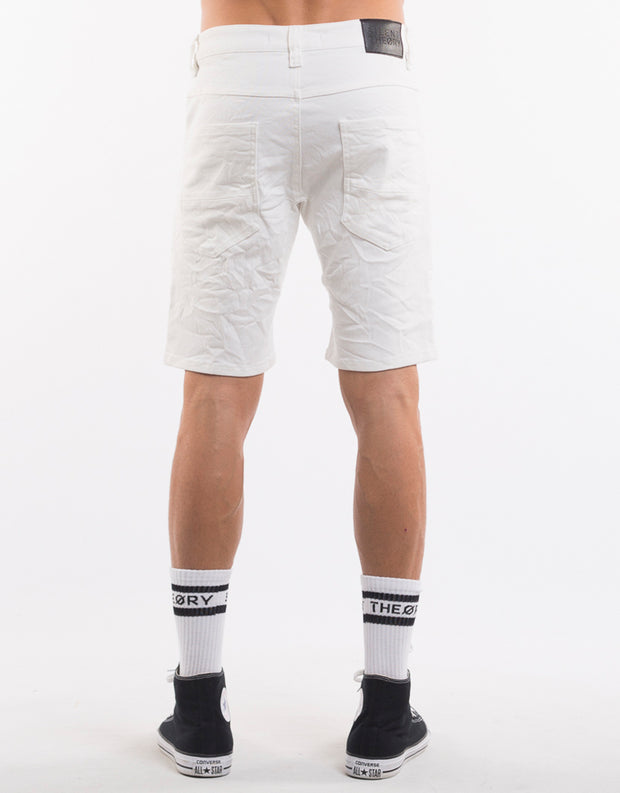 Outlaw White Biker Short