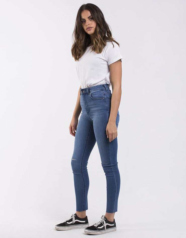 The Vice High Skinny Jean - Blue Dime