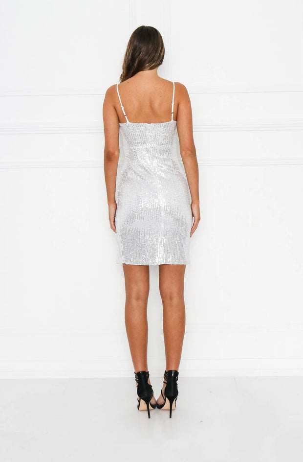 Natalia Sequin Dress - Silver