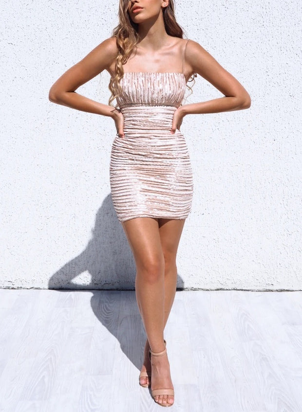 Kylie Dress - Champagne