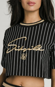 Baseball Stripe Crop T