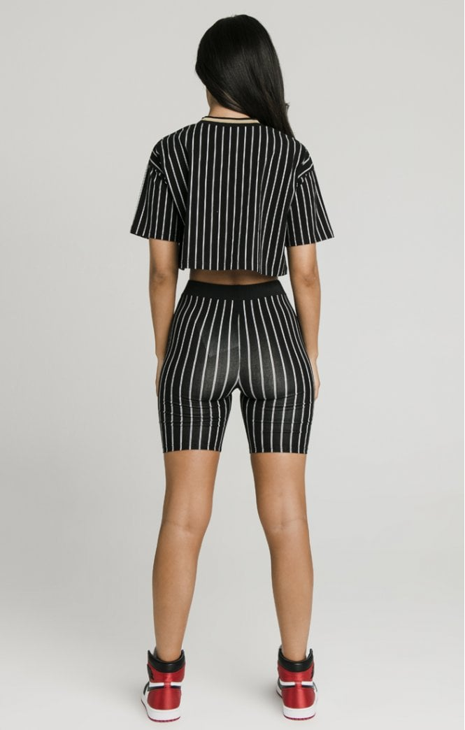 Baseball Stripe Cycle Shorts
