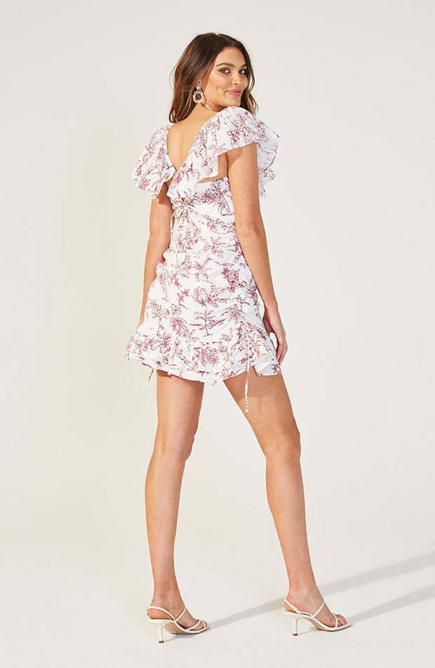 Tropical Toile Mini Dress