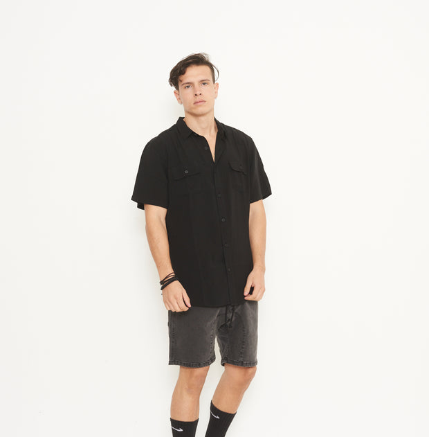 Whitehall Black Ss Shirt