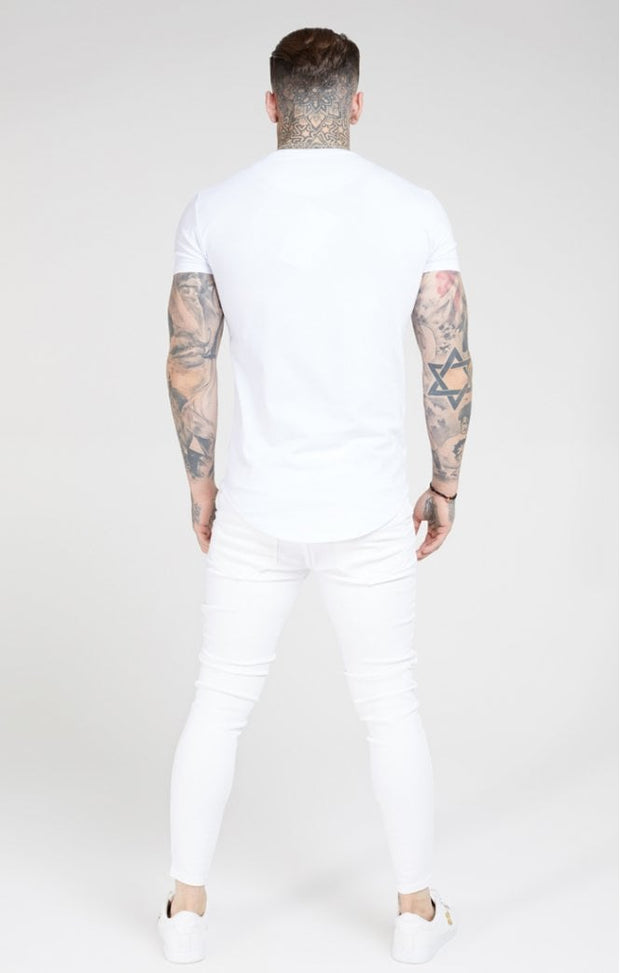 Skinny Distressed -white