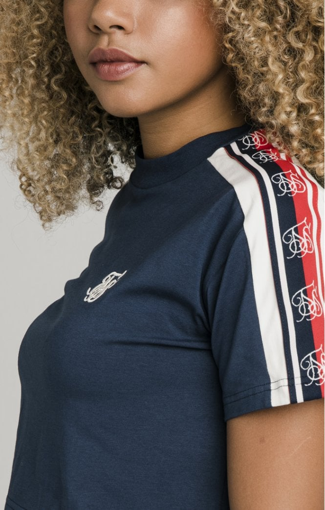 Classic Tape Crop Tee Navy