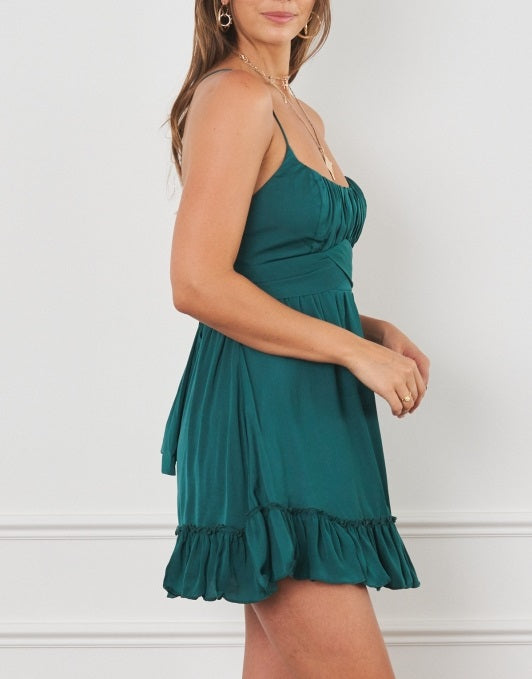 Lover Dress - Forest Green