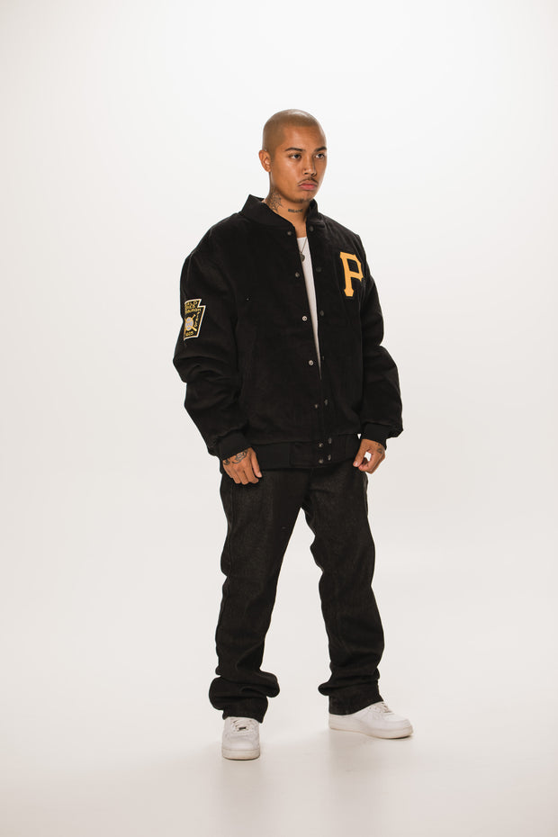 Pirates Coopers Cord Bomber Jacket - Black