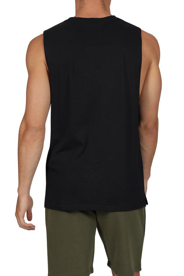 Terri Muscle Top - Black