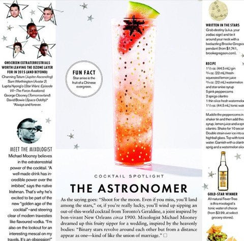 Elle Canada: The Astronomer Cocktail