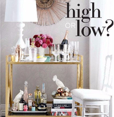 Style at Home: High/Low? Stylish Bar Cart