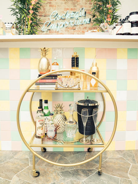 Coveteur: How to Really Style & Stock a Bar Cart