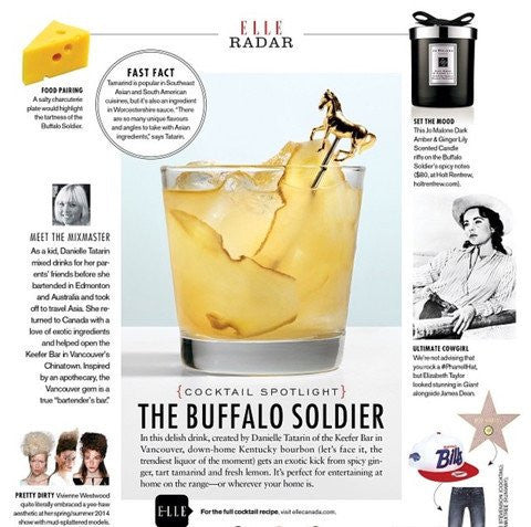 ELLE CANADA: THE BUFFALO SOLIDER COCKTAIL