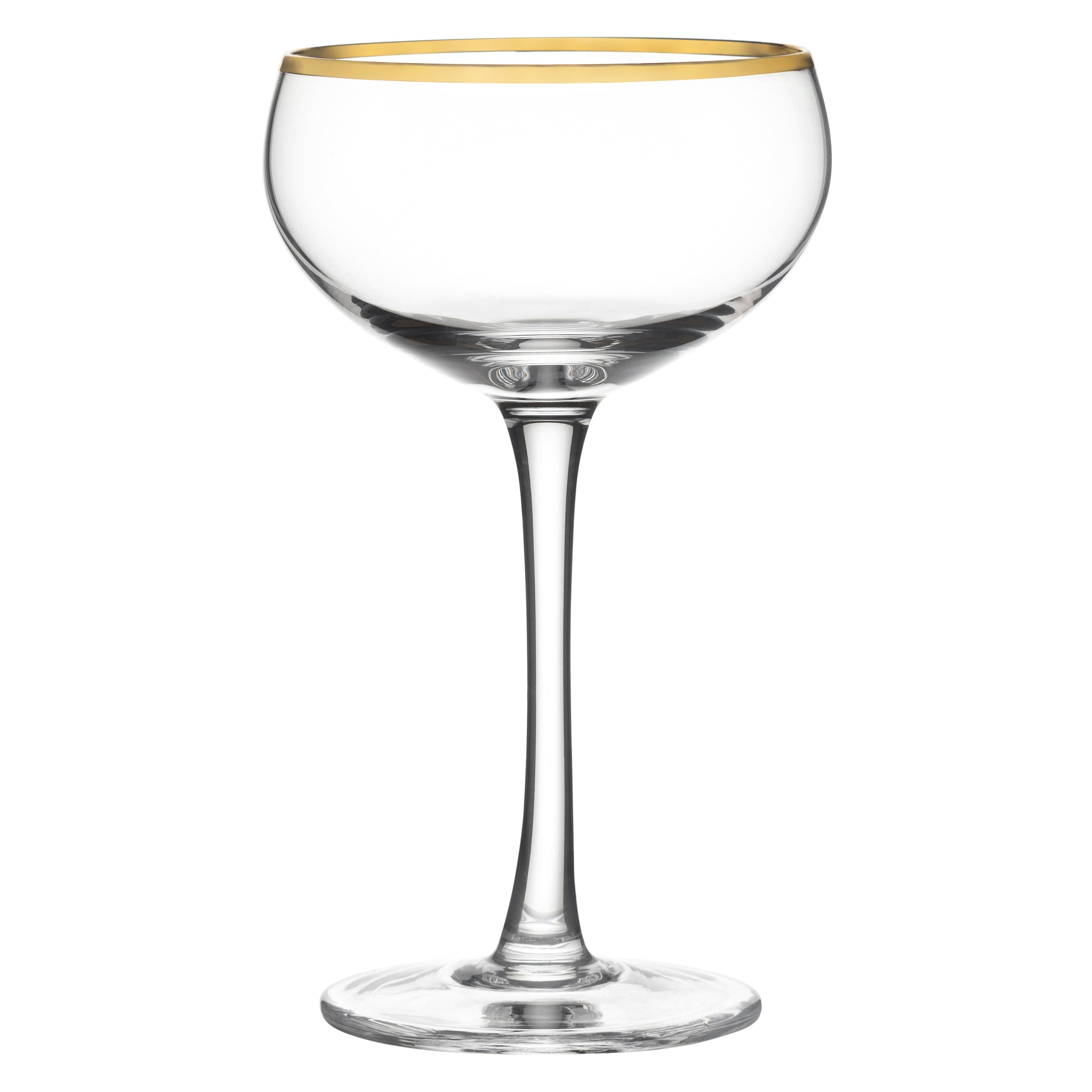 Potion House Cleo Gold Rim Coupe Glass
