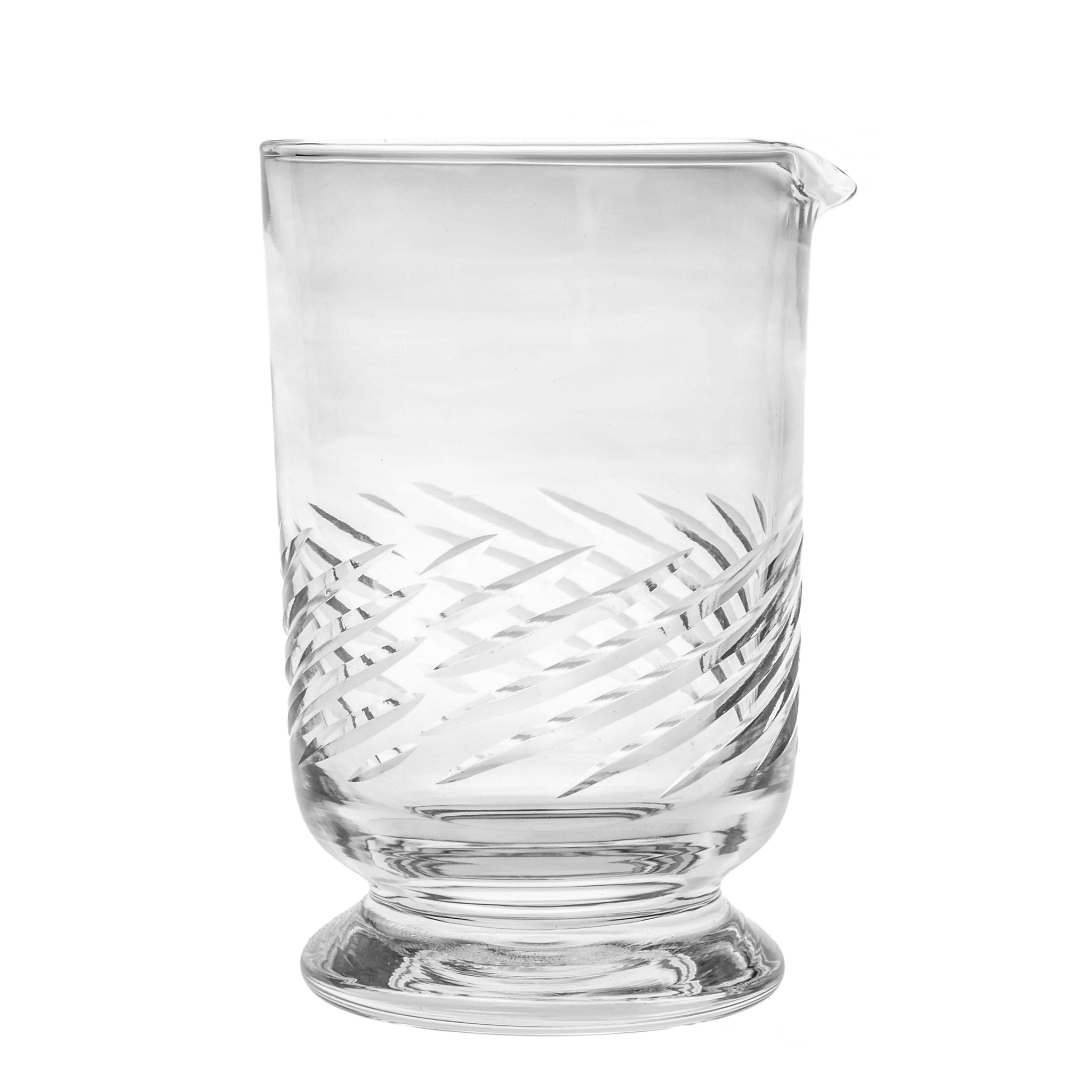 Potion House Swirl Etched Footed Mixing Glass