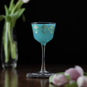 Gold Dream Deco Coupe Glass Moody Mixologist