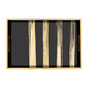Savoy Tray - Black and Gold