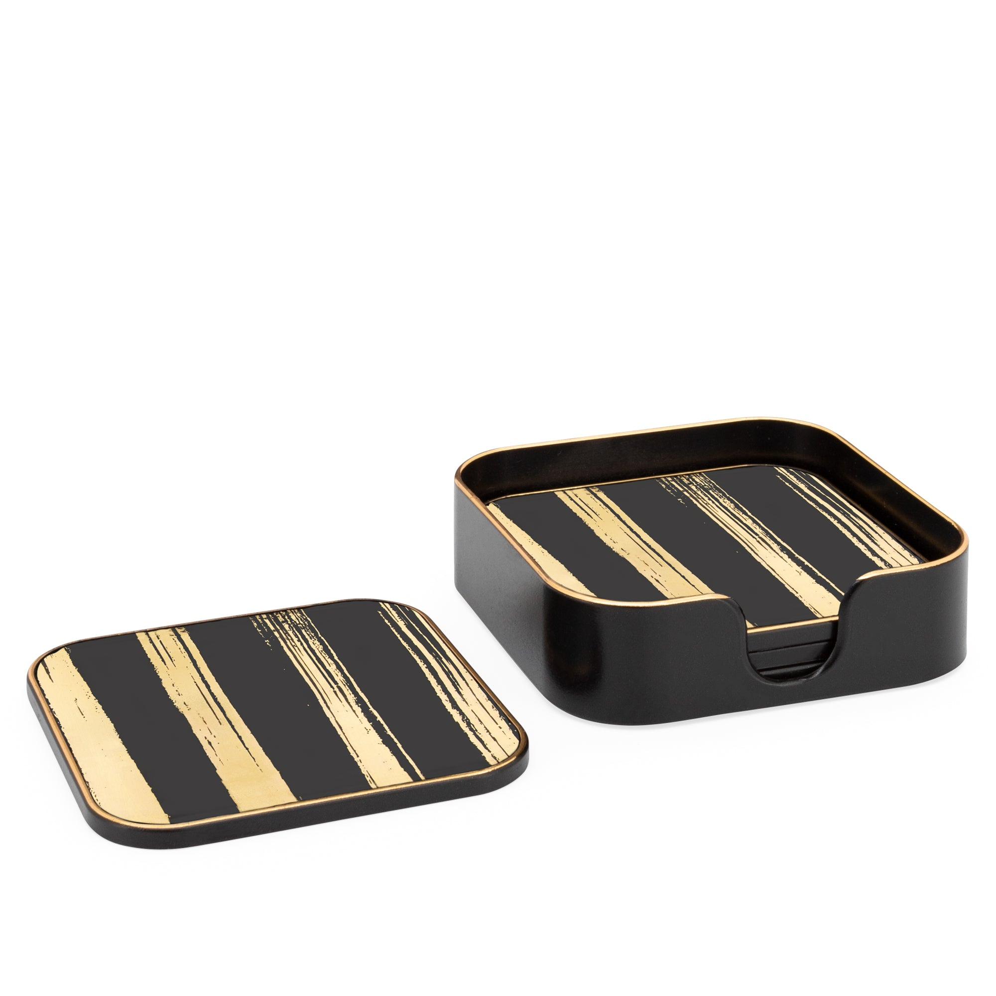 Savoy Coasters - Black and Gold