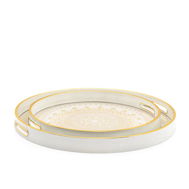 Gold Trim Florence Tray