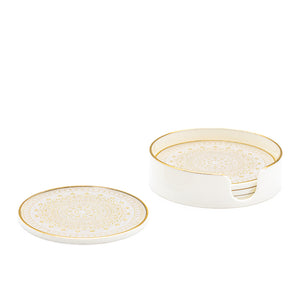 Gold Trim Florence Coasters