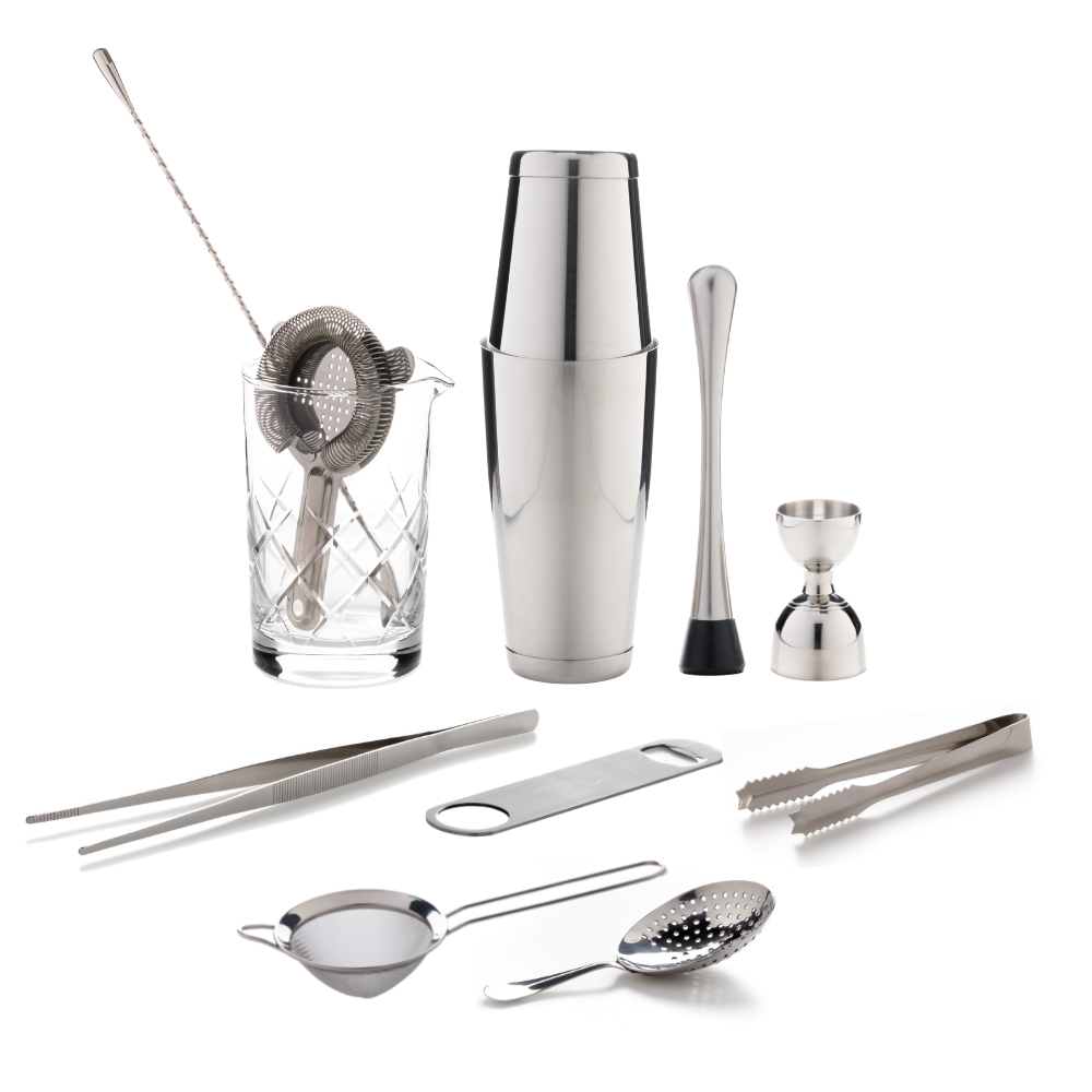 The Cocktail Aficionado Set (Stainless Steel)