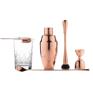 Deluxe Copper Bar Tools Set with Cobbler