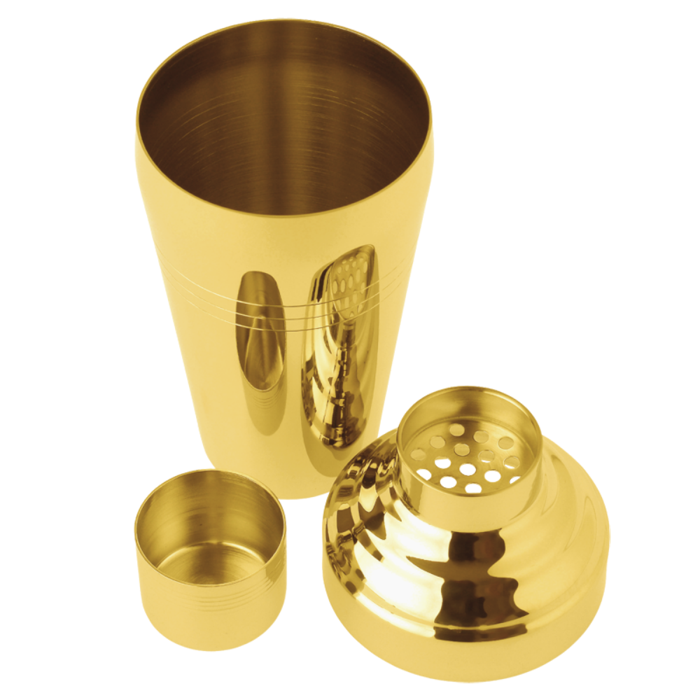 Gold Japanese 3-Piece Shaker - Matte or Shiny