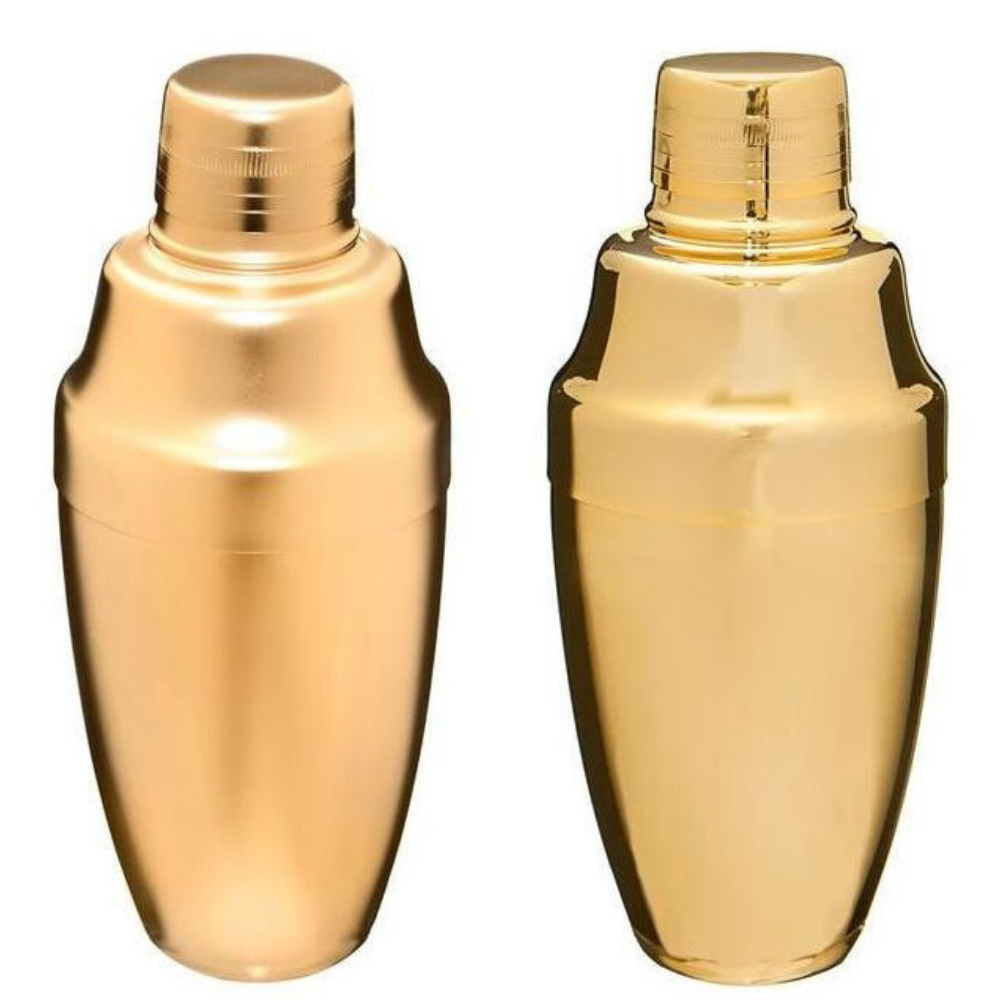 Gold Japanese Cocktail Shaker 500mL - available in Matte or Shiny