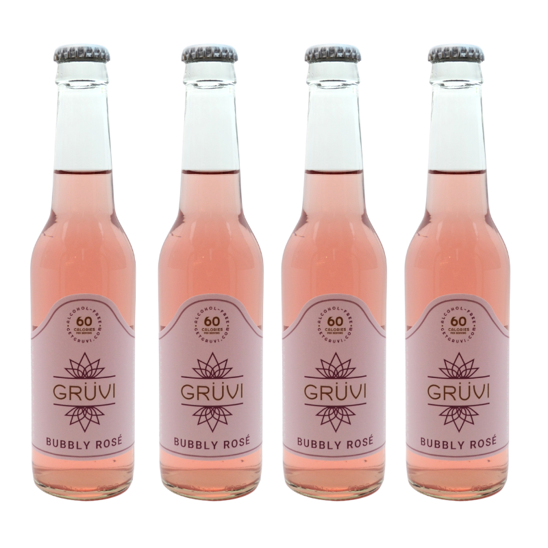 Gruvi Non Alcoholic Bubbly Rose 4 Pack
